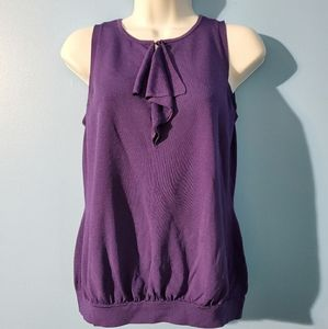 Michael Kors purple tank top blouse